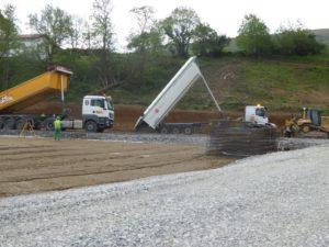 Lot VRD / terrassement d'un centre Leclerc à Osses