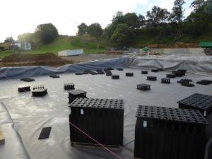 Installation du bassin de rétention