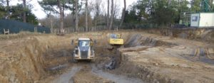 Terrassement et restructuration d'espaces