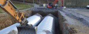 Travaux de VRD pour la construction d'un centre Leclerc à Osses