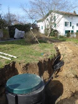 VRD ; raccordement pompe de relevage à Saint Jean de Luz